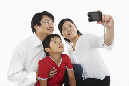 Family taking a photo together photo