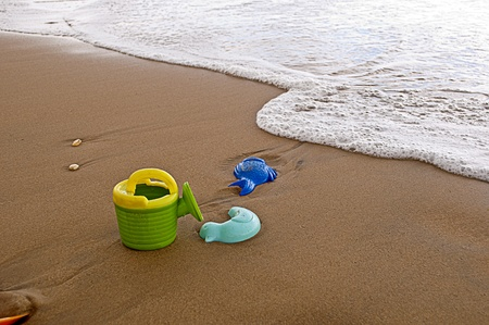toys on beach Stock Photo - 13325487