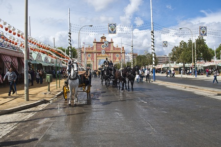 image of the April Fair in Seville spain,29/04/2012 Stock Photo - 13512242