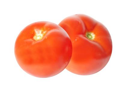 image of tomatos  isolated on white background photo