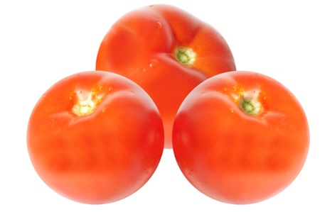 image of tomatos  isolated on white background photo