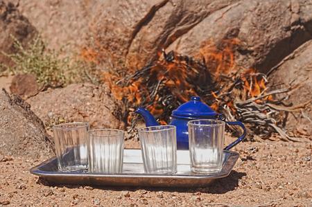 chad: tuareg tea in zamur region, western sahara