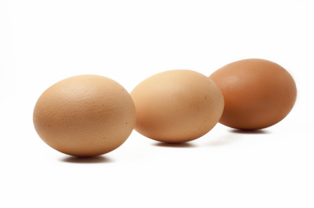 no cholesterol: Eggs on a white background