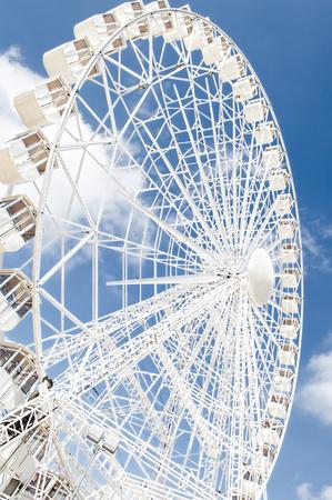 circumference: Ferris wheel against blue sky,sevill feria ,2016