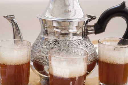 moroccan traditional tea, green tea Stock Photo