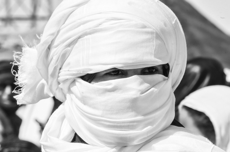 tuareg man portrait in western sahara