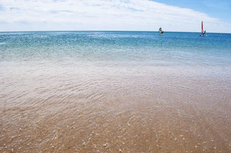 Beautiful beach in ocean sea