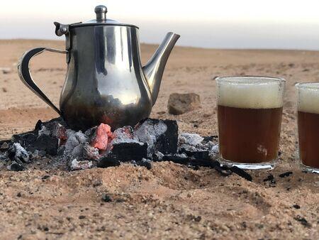 saharawi green tea in western sahara