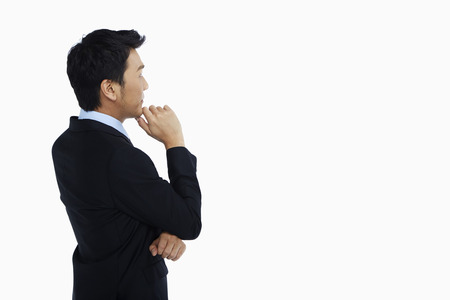 Businessman thinking and contemplating