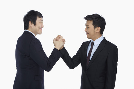 Businessmen giving each other a handshake photo