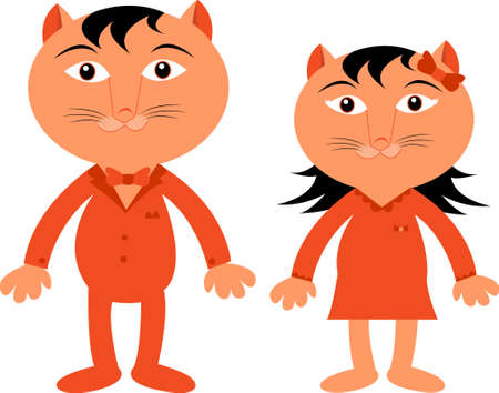 bengal: couple bengal cat Illustration