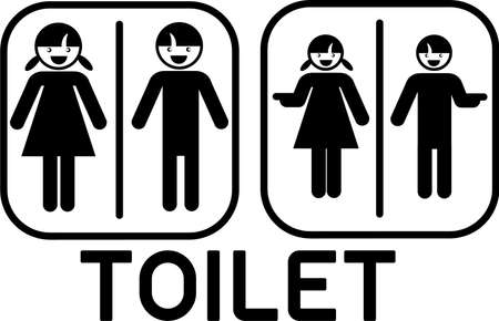 cute toilet sign