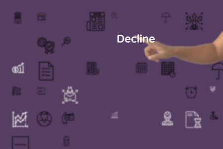 pose as to Decline, dampen, decline, absolve, downplay, drop, alleviate, harm, bate, cheapen