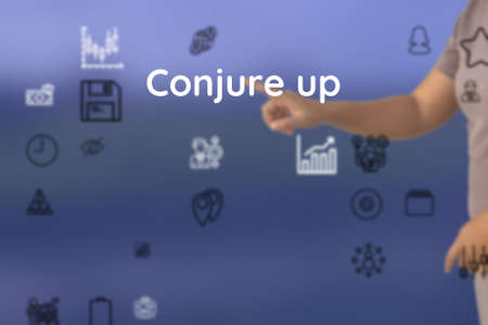 introduce by Conjure up, give, conscript, upgrade, add, earn, provoke, bolster, fire, create Stock fotó
