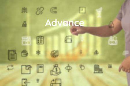 Advance represent as for amplification, addition, accrue, make, garner, profits, take in, achieve, reach