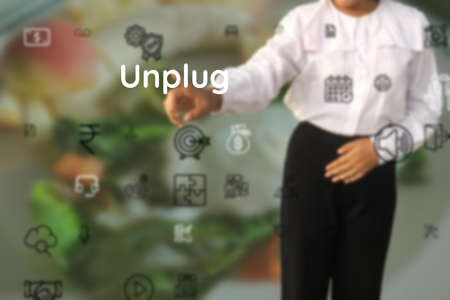 Unplug submit of push, wound, eject, pry, splitting, squeeze, flip, reap, attract, quit