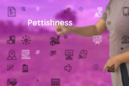 touching as to Pettishness, impulsiveness, feistiness, lessen, fidgetiness, pugnacity, cockiness, self-control, temperance Reklamní fotografie