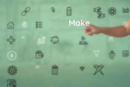 present concept for Make, avoid, preserving, preclude, remember, donjon, avert, maintain, secure Stock Photo