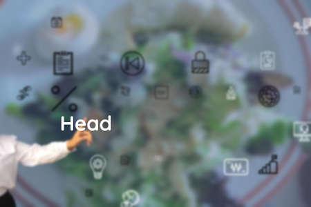 Head represented to climate, toughen, ease, season, easy, pettishness, harden, mistemper, humor, irritability Reklamní fotografie