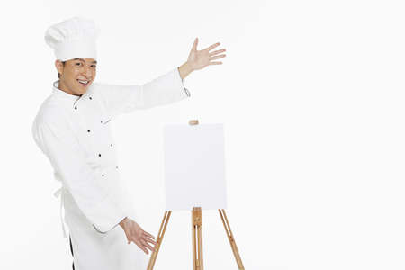 Chef showing a hand gesture photo