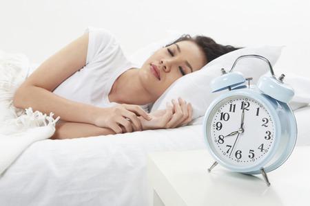Woman fast asleep photo