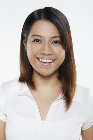 Woman smiling at the camera photo