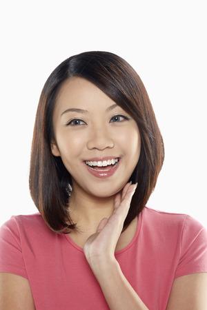 femme qui rit: Femme gaie rire