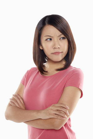 Woman looking angry photo