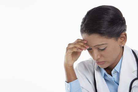 medical personnel: Medical personnel feeling stressed