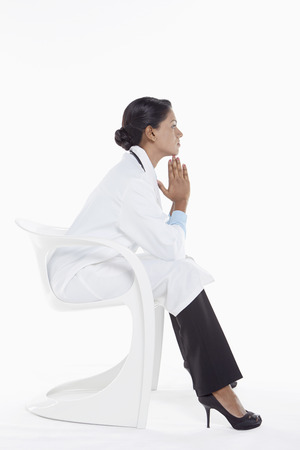 Medical personnel contemplating Stock Photo - 22996051