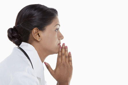 medical personnel: Medical personnel contemplating
