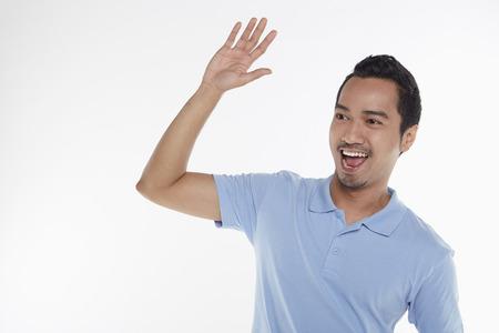 Man giving a high five photo
