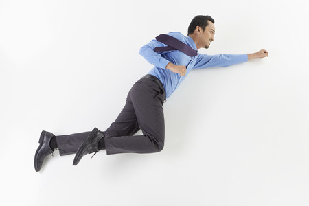 Businessman posing on the floor photo