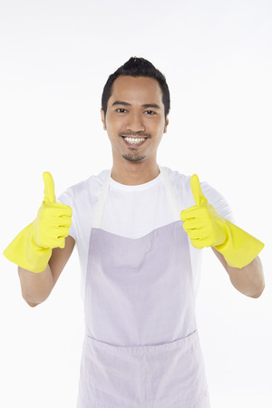 Man giving two thumbs up photo