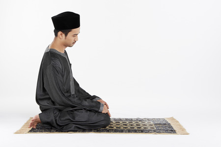 reciting: Man sitting for Tahiyyat