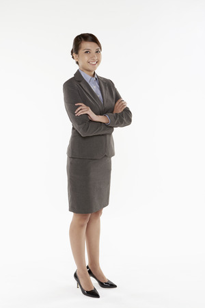 Portrait of a businesswoman smiling photo