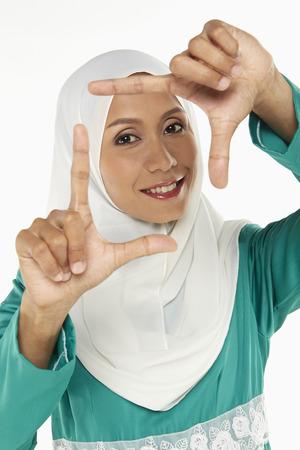 hand gesture: Woman showing hand gesture