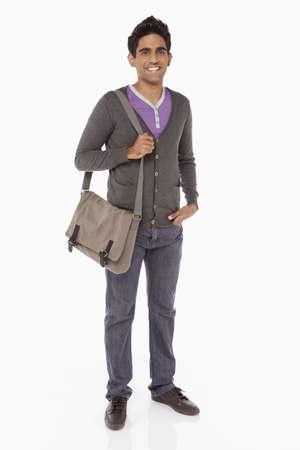 Man carrying a sling bag photo