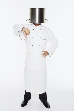 hand gesture: Male chef showing hand gesture