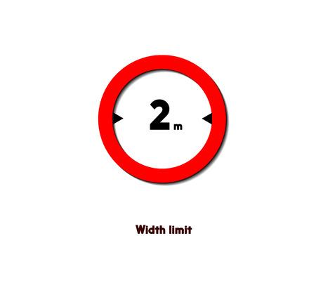 road sign,width limit