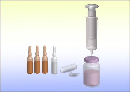 Pill vial and syringe