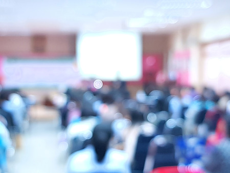 blurred pictures of Conference of parents of students.