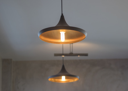 Dark images and soft focus of The ceiling lights