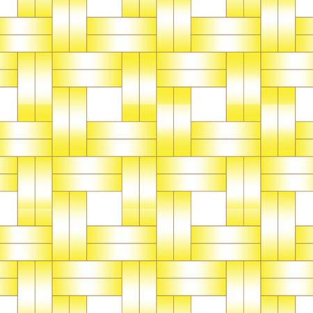le modèle de tissage sans couture de ruban jaune