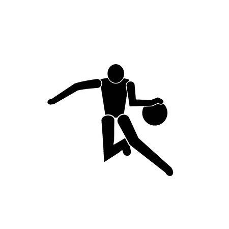 Vector black Basketball icon