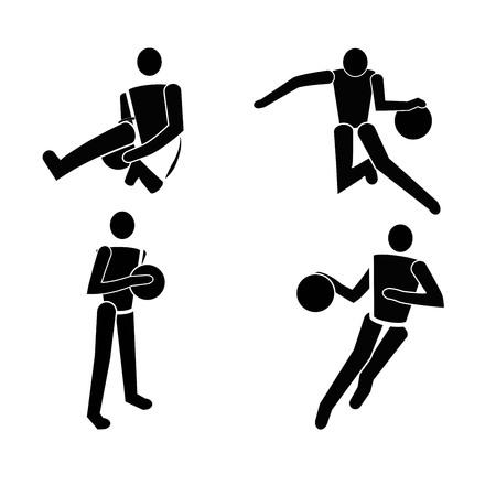 Vector black Basketball icon