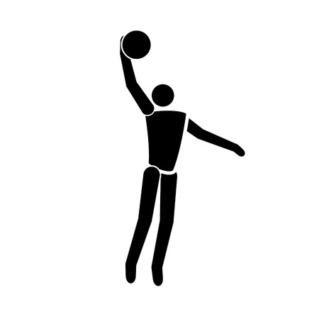 Vector black Basketball icon Banque d'images - 102645023