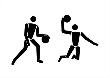 Vector black Basketball icon Banque d'images - 103164162