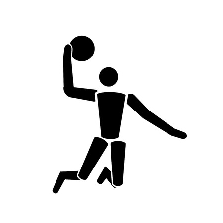 Vector black Basketball icon Banque d'images - 103164160