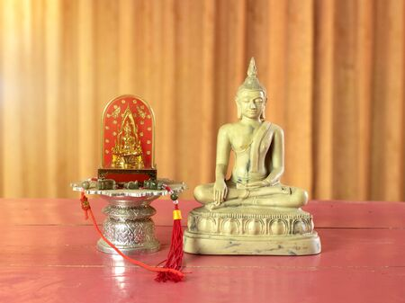 Placement of statues To worship With faith and believed by Buddhists. Buddhists believe will bring peace to themselves and society.